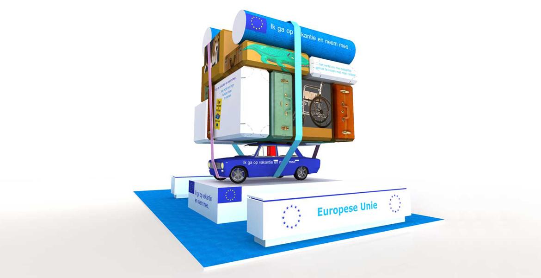 Stand Europese Commissie - vakantiebeurs