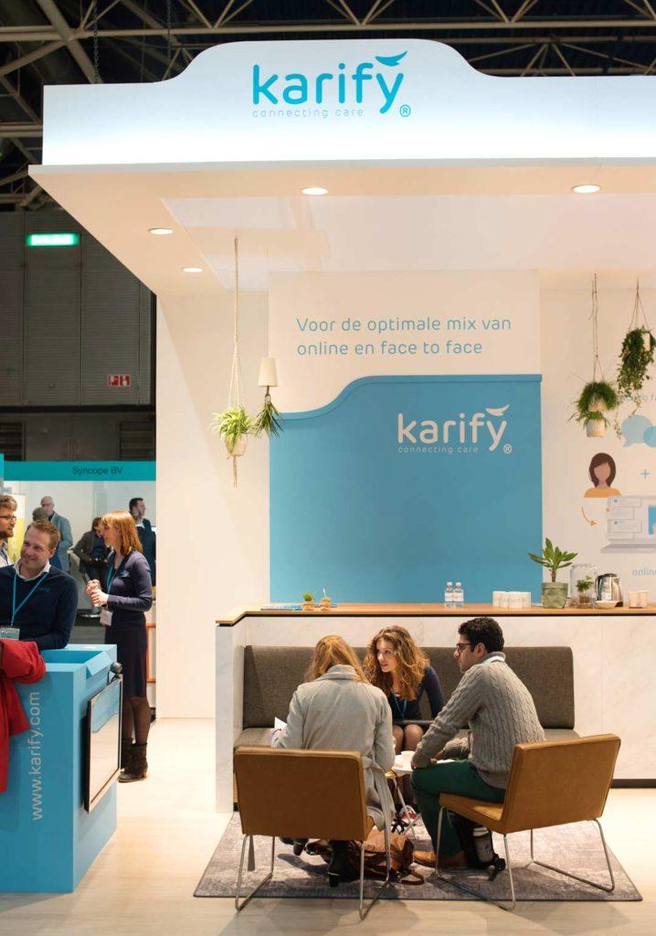 Stand Karify- Zorg en ict beurs